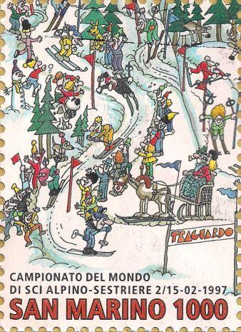 Briefmarke-Europa-Südeuropa-San Marino-1000-1997-Campionato del Mondo di sci alpino-1702