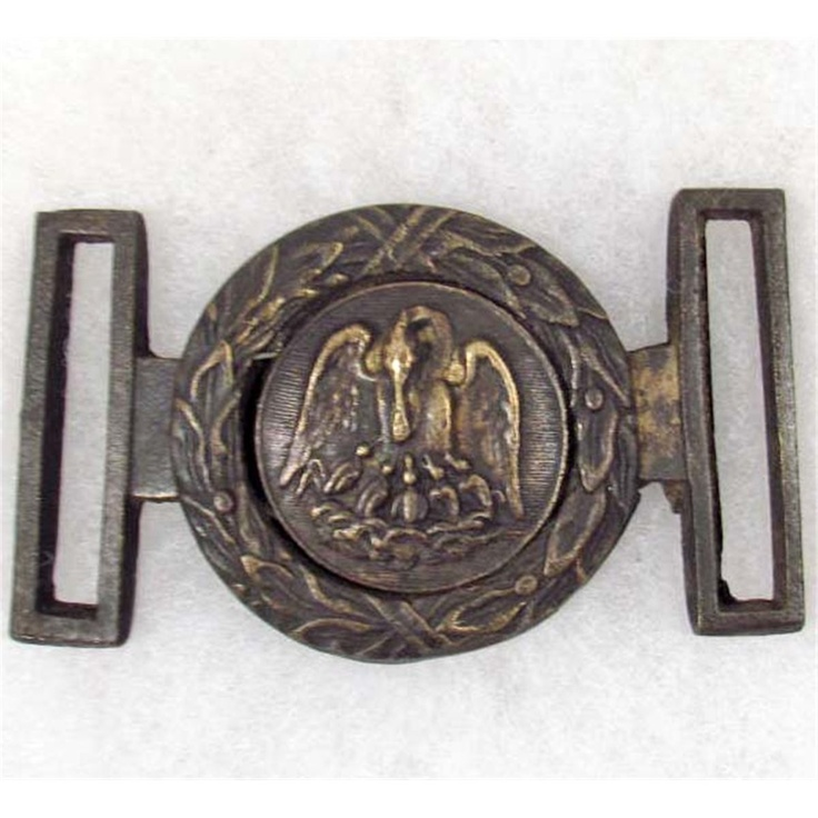 Confederate officer's belt buckle