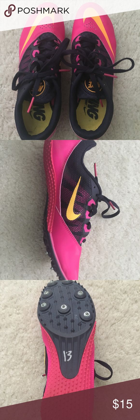 Nike Rival S Racing Spikes These are made for sprinting events in track and field (usually like the 50m/100m/200m). These are in perfect condition and were only used in 2 races. They are very comfortable and are a women's size 7.5. Nike Shoes Athletic Shoes