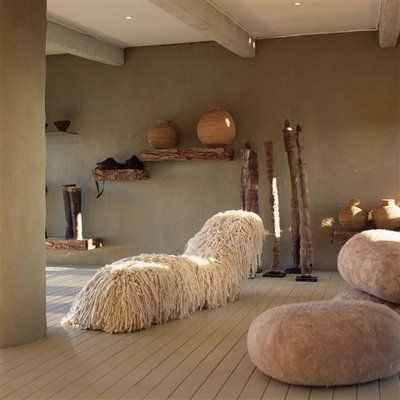 Laurie Owen..South Africa designs very organic pieces from fallen trees/nature