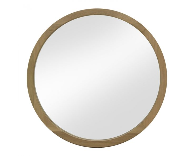 Spati Mirror Round (Oak) 87d