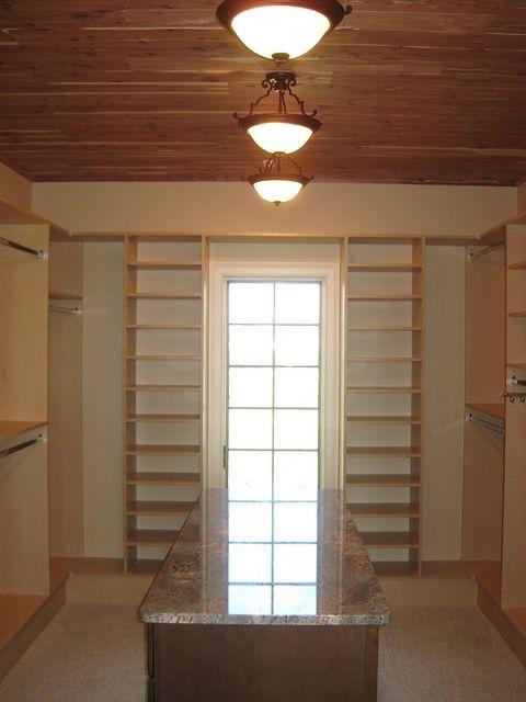 Custom Closet With Cedar Ceiling