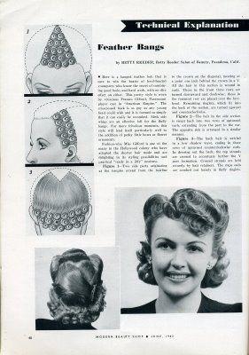 Modern Beauty Shop Magazine Feather Bangs C 1940 S