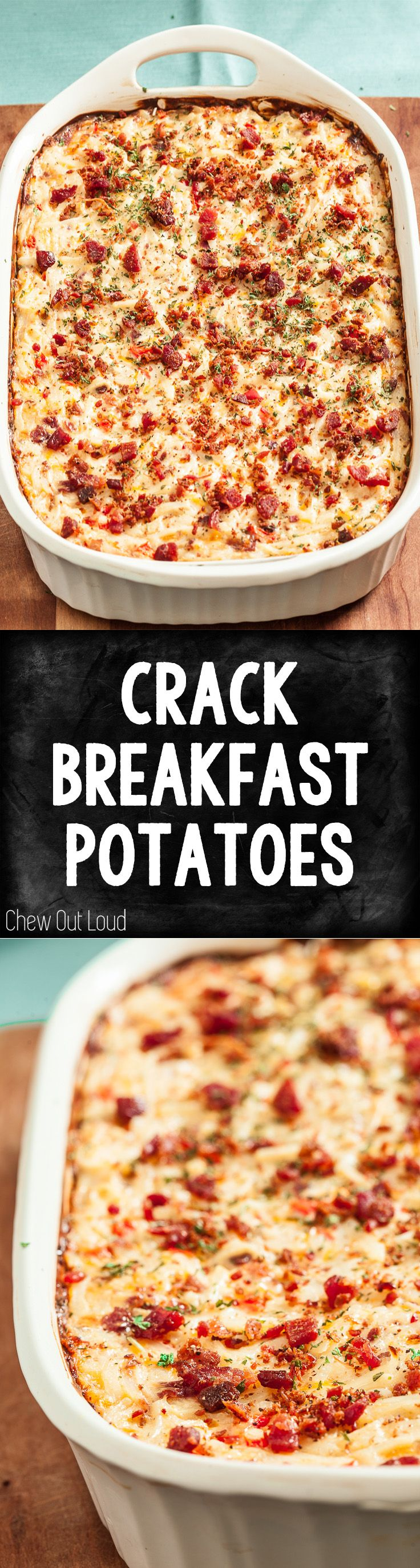 There's a reason it's called Crack Breakfast Potatoes. Brazenly addictive. Ultra comforting. Can be prepped the night before, too. #breakfast #brunch #potatoes
