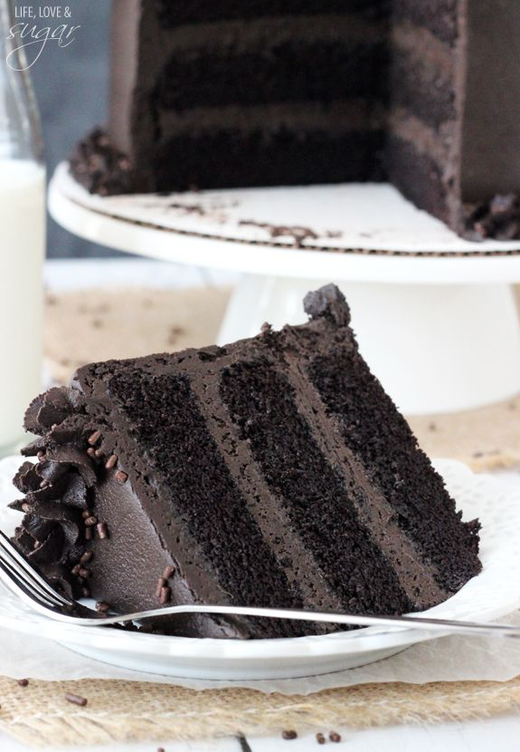 Best Chocolate Cake - incredibly moist and chocolatey! I want to eat the pictures...I should probably bake the cake.