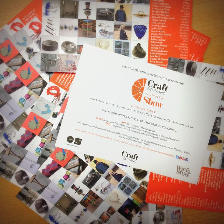 The lovely new Craft Scotland Summer Show postcards have arrived, fresh from the printer.