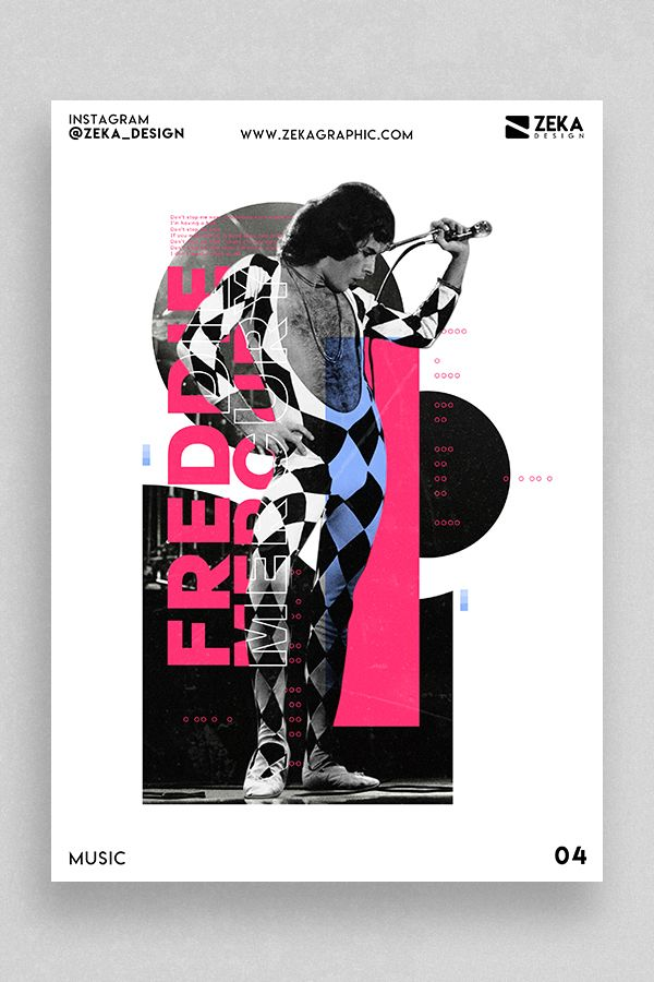 freddie mercury graphic design poster