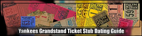 New York Yankees Home Game Schedule Grandstand/Bleachers Ticket Dating Guide