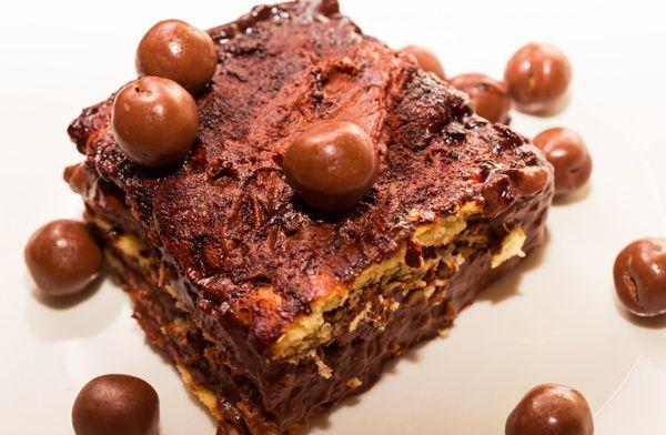 Γλυκό ψυγείου με μπισκότα πτι μπερ