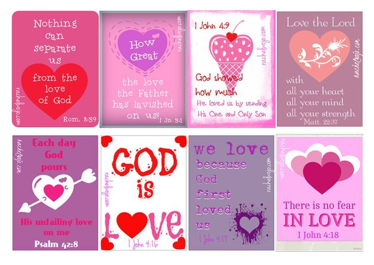bible verse valentines printable - Christian Valentine Quotes