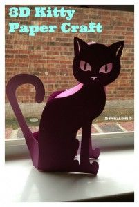 3D Kitty Paper craft project idea