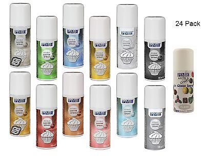 24 x pme edible #lustre spray #paint for food #fondant icing colour cake decorati,  View more on the LINK: http://www.zeppy.io/product/gb/2/401222191431/