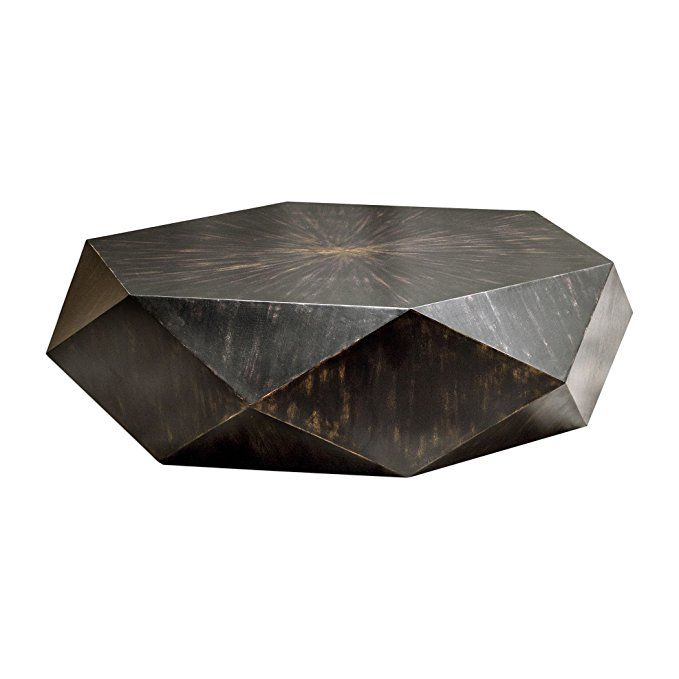 763 Faceted Large Round Wood Coffee Table Modern Geometric Block Solid Round Wood Coffee Table Geometric Coffee Table Modern Wood Coffee Table