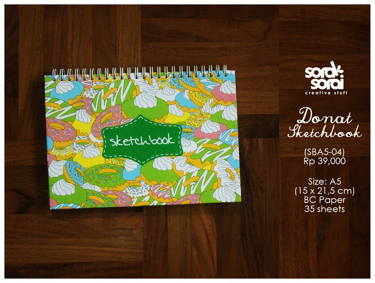 Doughnut Sketchbook by #soraksorai  designed by Niken Aridinanti