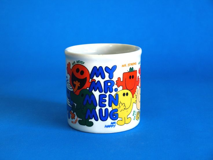 Retro Roger Hargreaves My Mr Men Mug - Kitsch Tom Green Mr Men Mr Forgetful Mr Tickle Mr Bump Mr Strong Mr Happy Mug by FunkyKoala on Etsy