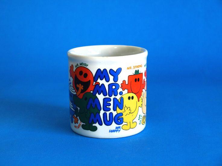 Retro Roger Hargreaves My Mr Men Mug - Kitsch Tom Green Mr Men Mr Forgetful Mr Tickle Mr Bump Mr Strong Mr Happy Mug by FunkyKoala on Etsy