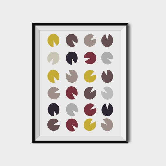 Packman poster Packman love printable Polka dot by 2eggsProject