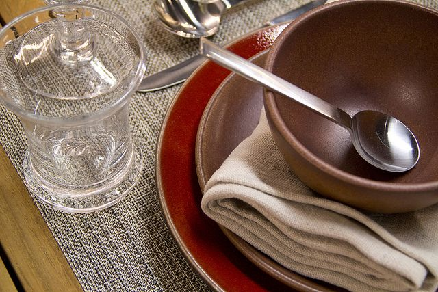 Weekly Table Setting: Moody Hues and Neutral Accents