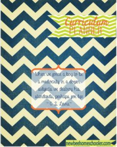 FREE LESSON PLAN BOOK PRINTABLE!! Navy Chevron K 5.23.2013 TDHB 239x300 Step 1. Choose A Pretty Front/Back Cover