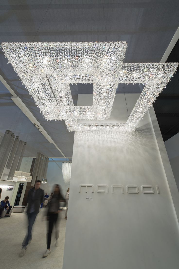 EUROLUCE 2015 Koi Crystal Chandelier Manooi www.manooi.com #Manooi #Chandelier #CrystalChandelier #Design #Lighting #Koi #luxury #furniture