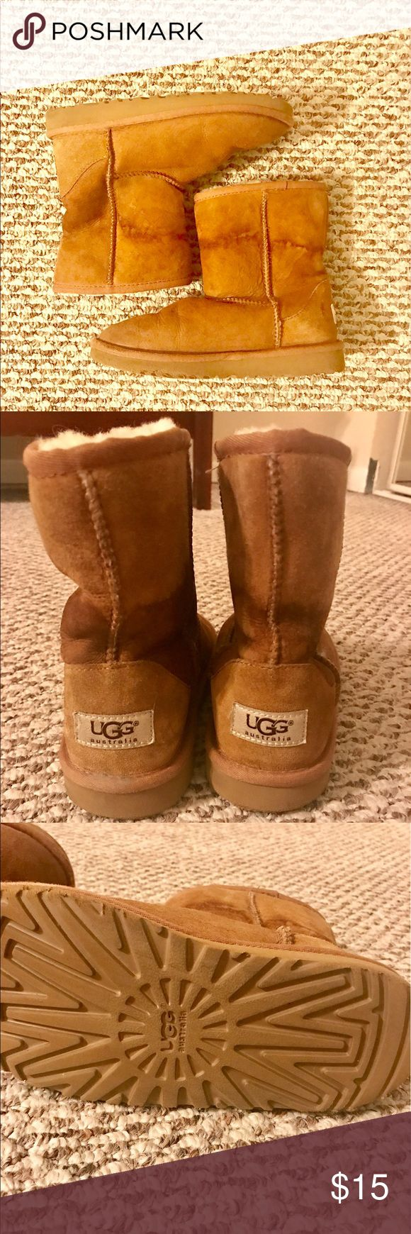 Uggs Classic for kids, size 2 Worn only twice. Stained with water, which is easily removable with suede brush and cream. Supersoft inside, feel like new. Incredible price. Act now, because I'm donating them next week. UGG Shoes Boots