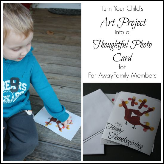 Simple DIY Thanksgiving Photo Card Idea From WholesomeMommy.com
