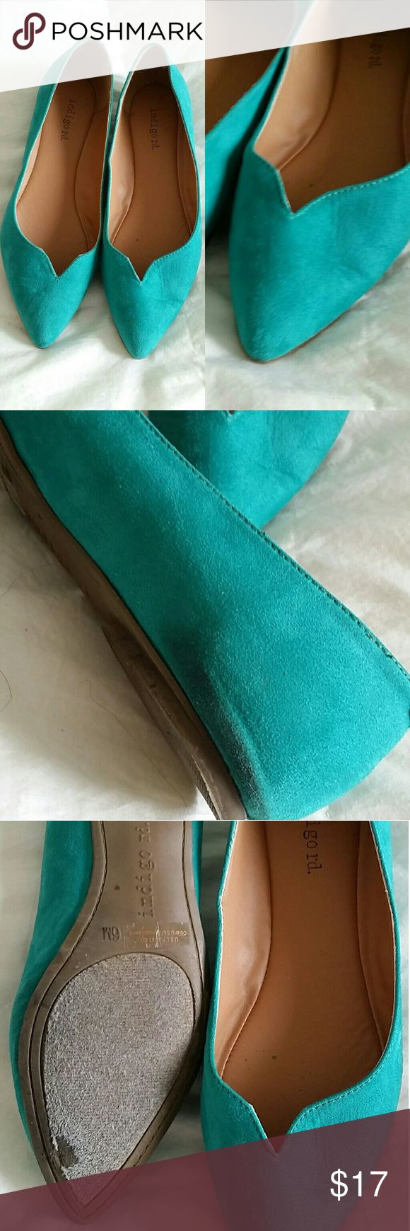 Teal Flats Teal flats.  Size 6.5 Worn a few times. Shoes Flats & Loafers
