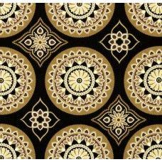 Sundial Black Indoor Outdoor Fabric