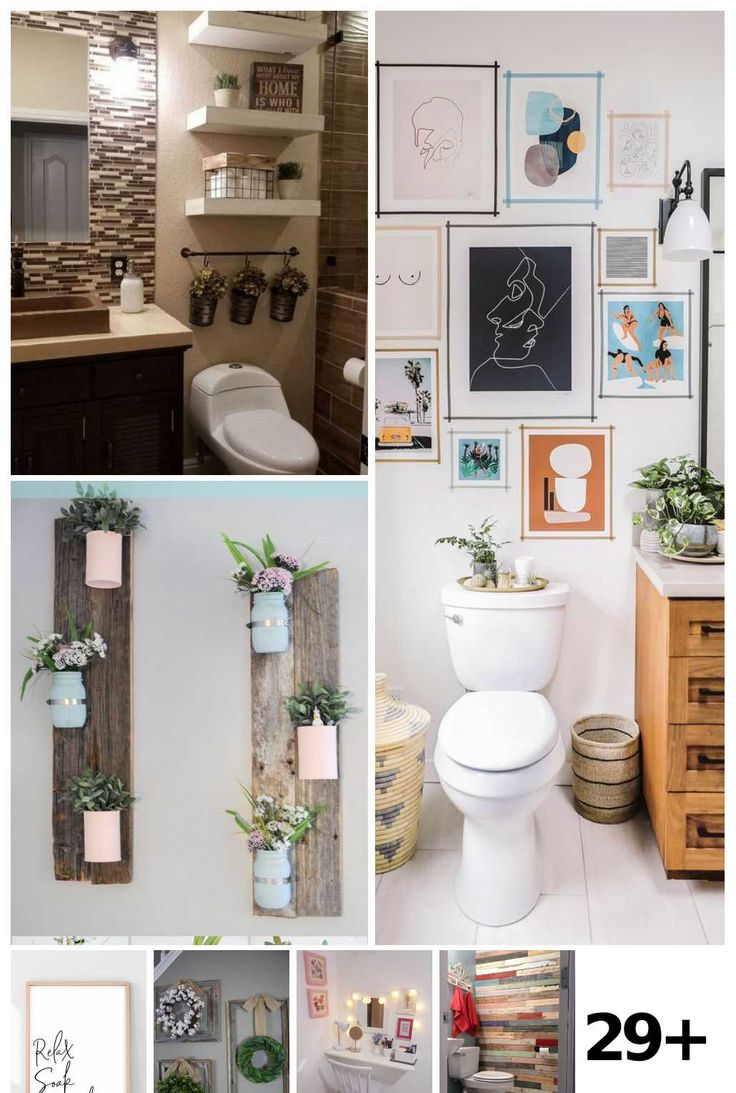 29 bathroom wall decor diy ideas in 2020 bathroom wall on bathroom wall decor id=72738