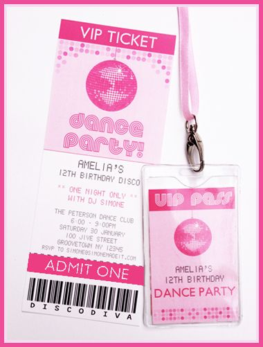 best ideas about vip pass on   dance party birthday, party invitations