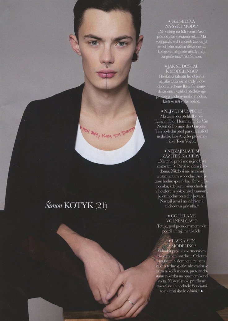 Simon Kotyk - Czech Elle