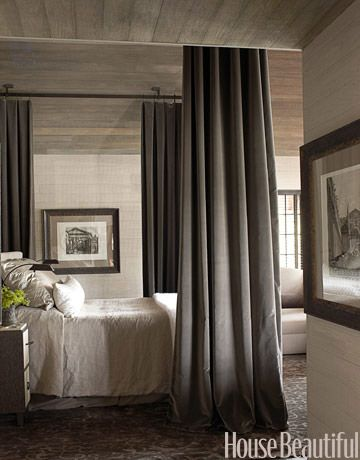 ...Decor, Ideas, Lakes House, Curtains Rods, Canopy Beds, Interiors, Master Bedrooms, Canopies Beds, Bedside Tables