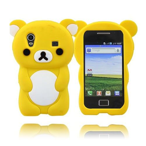 Cute Bear (Gul) Samsung Galaxy Ace Deksel