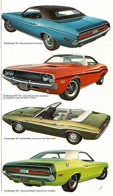 1970 Dodge Challenger range: