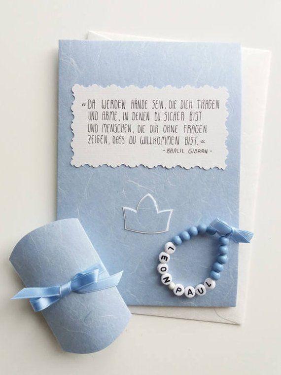 Glückwunschkarte Grußkarte Baby Armband Karte Taufe Geburt