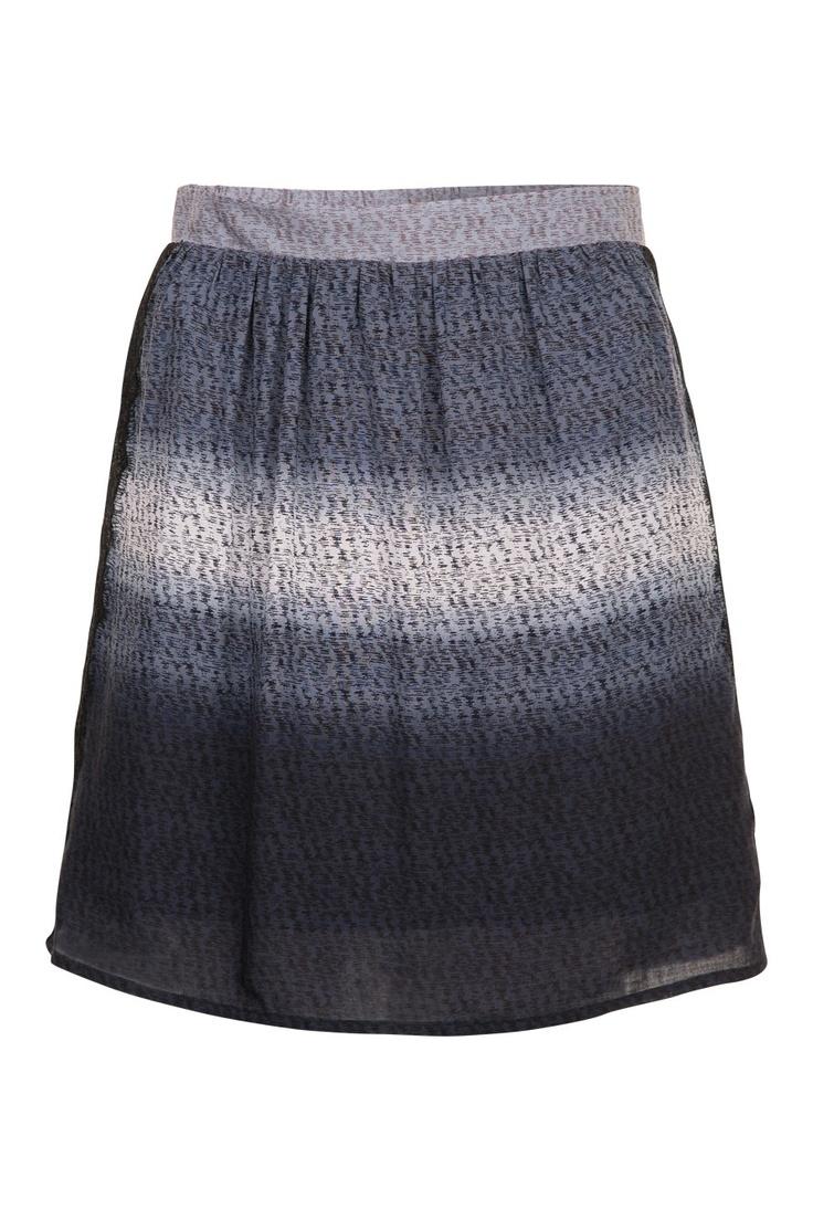 Mini jupe Tie & Dye à dentelle bleu chambray Naf Naf