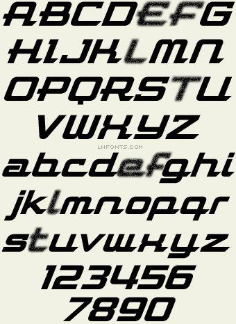 Letterhead Fonts / LHF Flathead / Racing Fonts