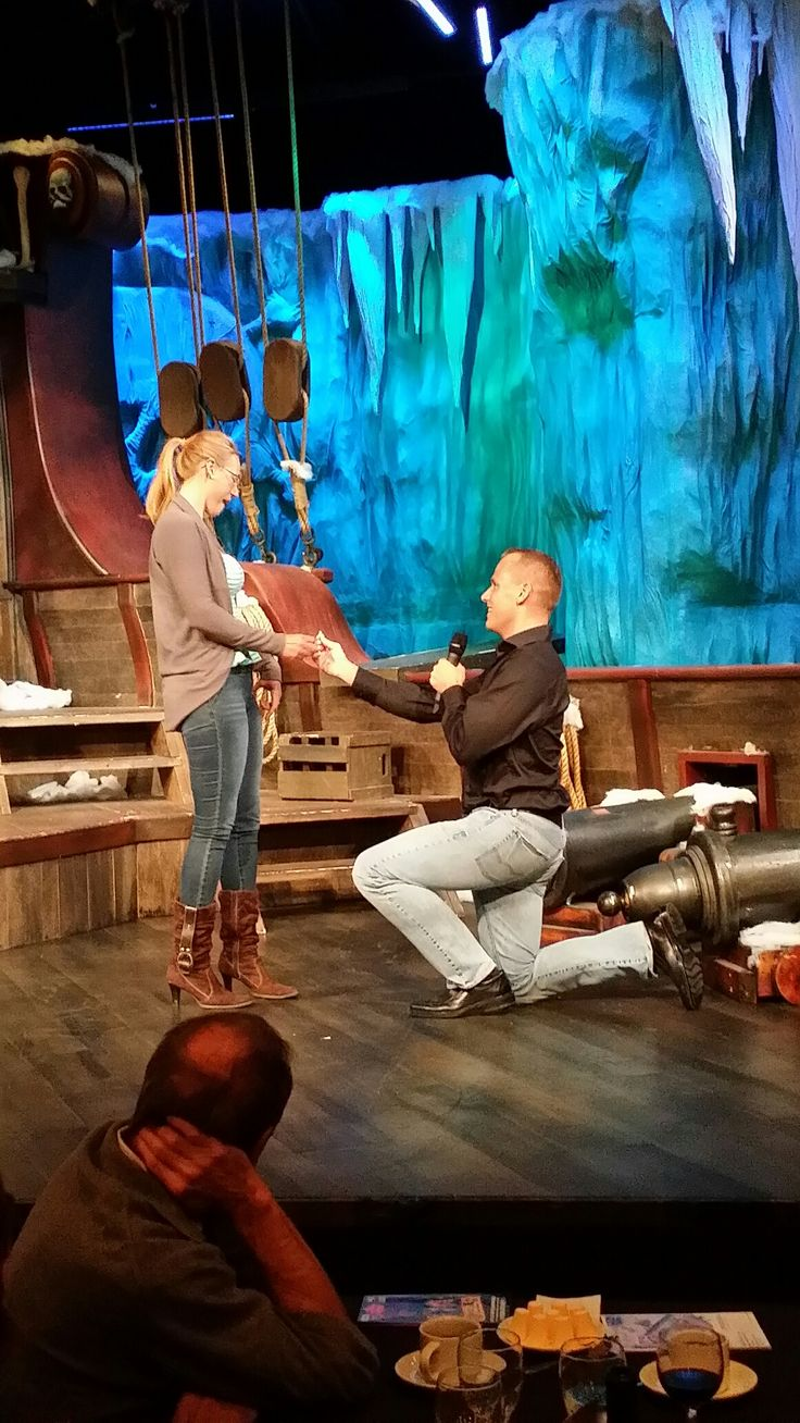 Congratulations to Vinnie & Melissa - engaged last Sunday Night on our stage at Jubilations Dinner Theatre. All the staff and cast wish you many years of married bliss.