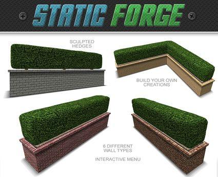 Second Life Marketplace - Hedge Walls (Build Your Own)