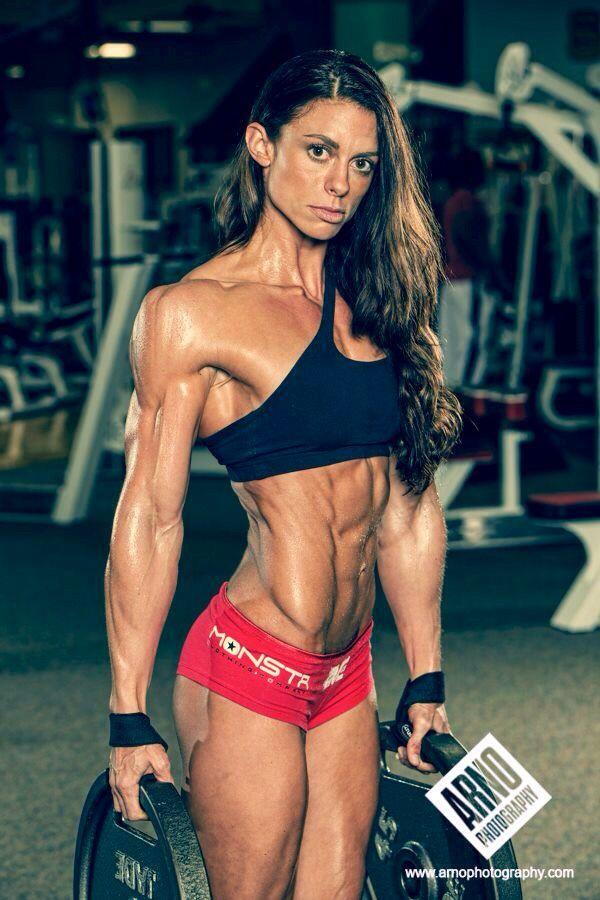 athletic women fitness model