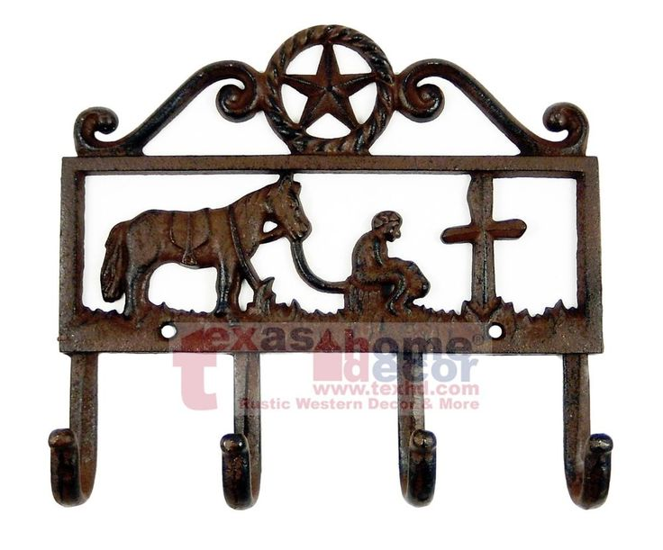 Western Decor Wall Hooks : Best images about metal key holder coat rack on