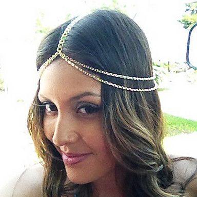 shixin® mode dubbele ketting gouden hoofdband (1 st) – EUR € 3.83