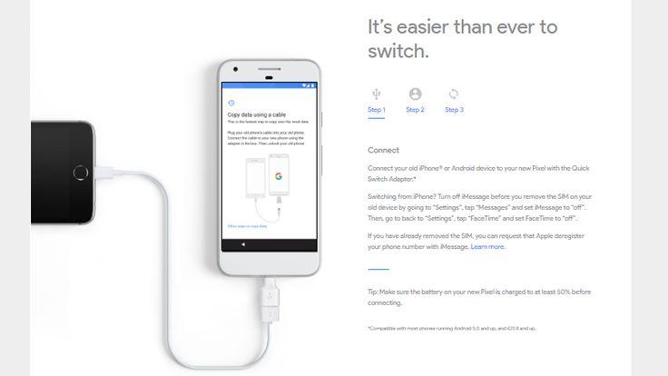 Google iPhone kullanıcılarının Pixel'e geçiş yapmalarına yardımcı olacak  http://www.teknoblog.com/google-pixel-iphone-gecis-kolayligi-133588/