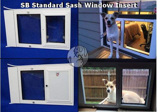 The SB Standard Sash Window Pet Door Features Single Paned Glass In A Heavy  Duty Security