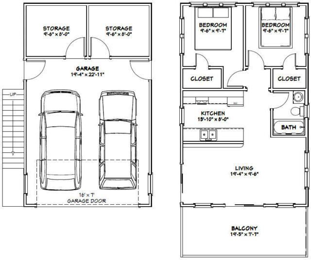 Narrow Lot House Plans With Rear Garage moreover Building At The Lake Or Somewhere in addition Garages Plans With Living Quarters together with Apartment Floor Plans together with Single Car Garage Foundation Plans. on 3 car shop with apartment above