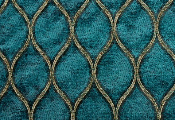 Woven Area Rug In Teal And Green Peacock Print By