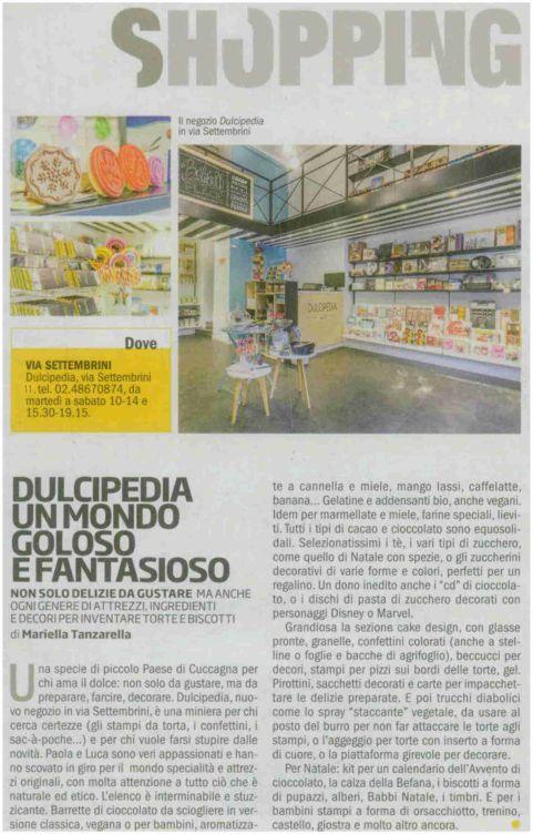 Dulcipedia su TuttoMilano (inserto Repubblica 10/12/2015)
