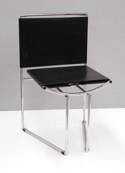 """Mario Botta; Alias, Manufacturer; Chair, ca. 1990 (makes me think """"I have to pee!"""")"""