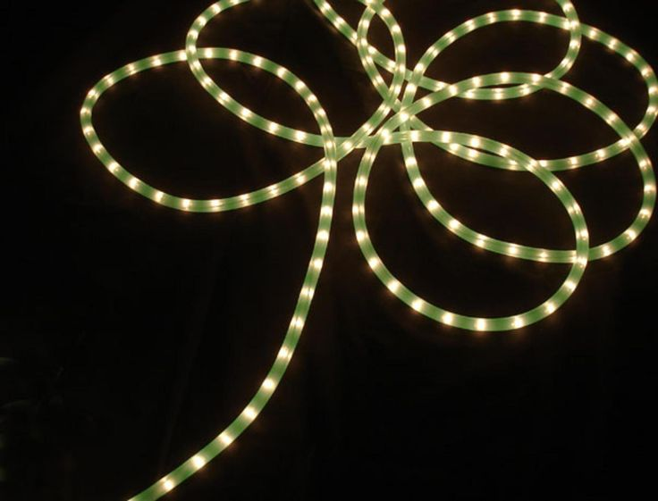 18' Lime Green Indoor/Outdoor Christmas Rope Light Decoration