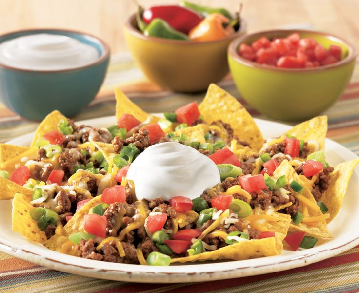 Do you love loaded nachos but don't feel like going out? Try our Loaded Beef Nachos recipe which is sure to please your entire family! Made with Daisy Sour Cream.